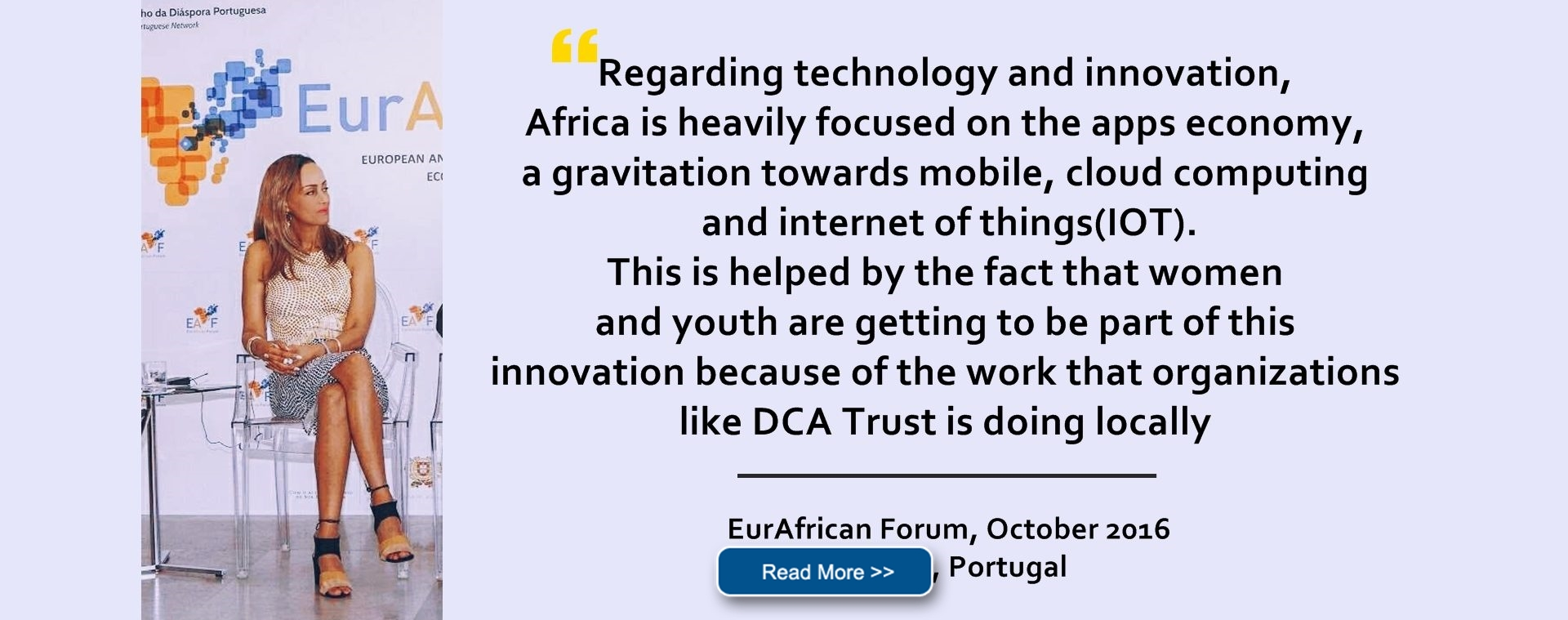 Key Issues and Challenges on Africa's Innovation ad IT industry at the EurAfrican Forum, Cascais, Portugal