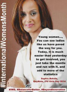 Sophia Bekele on international women's month
