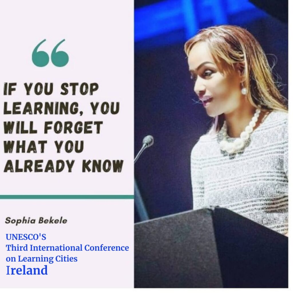 Sophia Bekele on Third International Conference on learning Cities